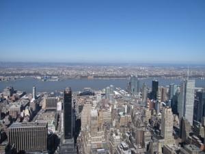 西。Hudson River向こうには尼崎、じゃなくてニュージャージー