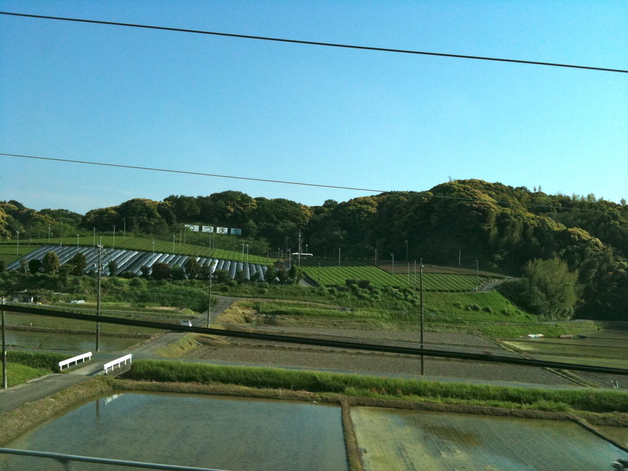 これを書いている車窓から見える景色。大阪ではありません