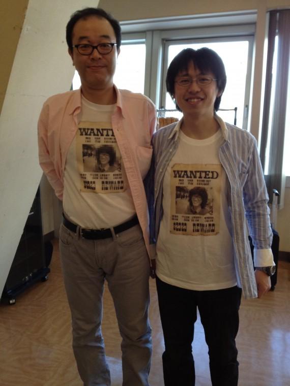 ひるてつ(左)啓三(シャツの写真はヤングな頃のひるてつ)