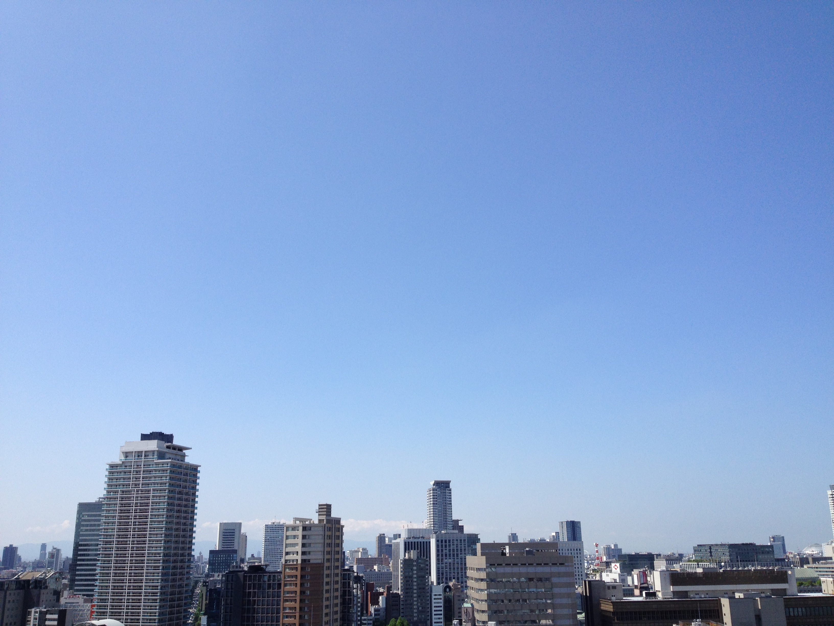 Today's Sky is blue in Osaka