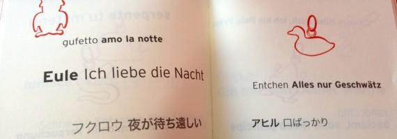 DoDoパンフはイタリア語、ドイツ語、日本語で書いてあります