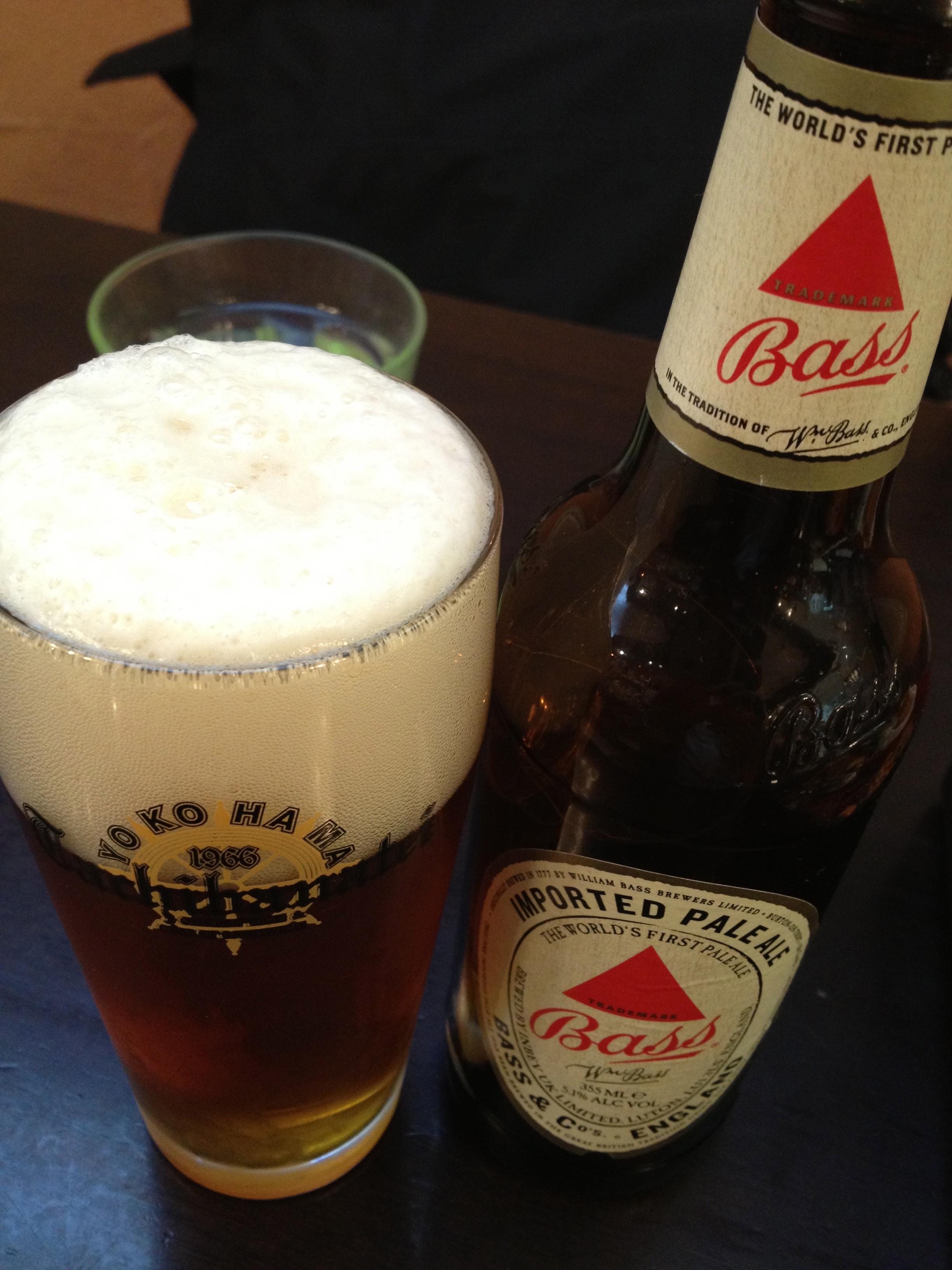 お気に入りのイギリスビールBass(本文とは関係ありません(笑))