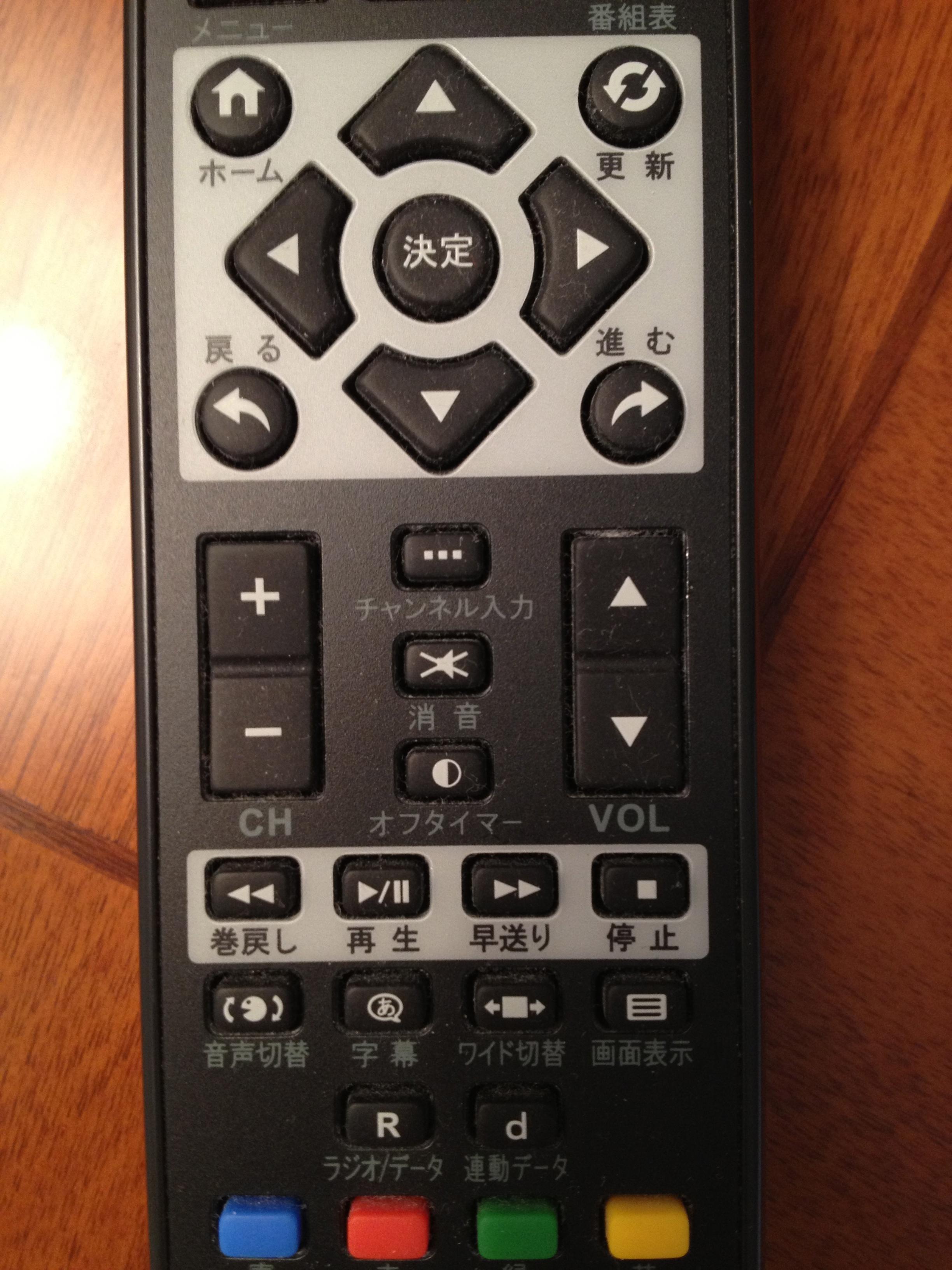 ここで問題です。音量とチャンネル、どっちがどっち?