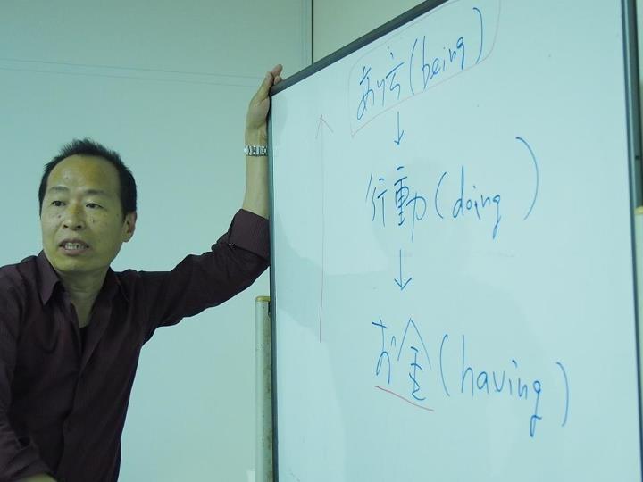 MAIDO-international講義中のショット(撮影・テリーこと前田哲宏氏)