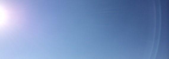 今朝のJW大阪オフィスから見る空。ぼくと一緒にこの空を見ましょう!