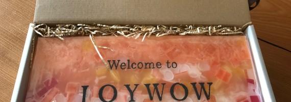 JOYWOW新本社移転祝いに戴いたキミノアカリ・オリジナルキャンドル
